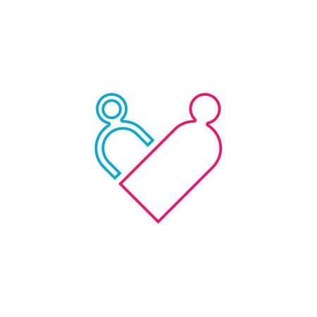 Beauty Love Vector icon illustration design Template Ilustração