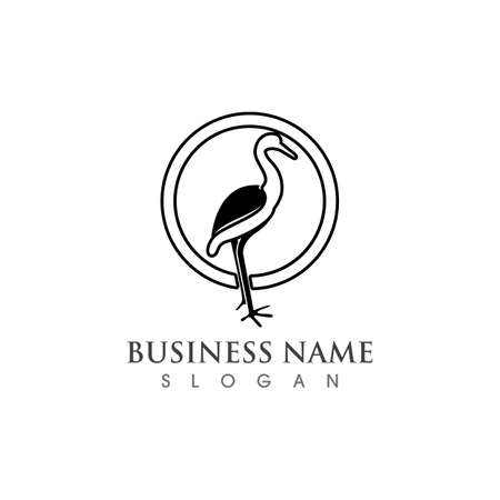 Swan logo and symbol vector Ilustração