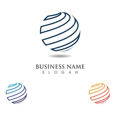 Globe circle logo and symbol vector