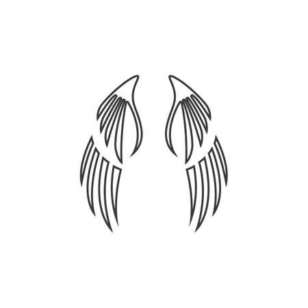 wing Logo Template vector illustration design