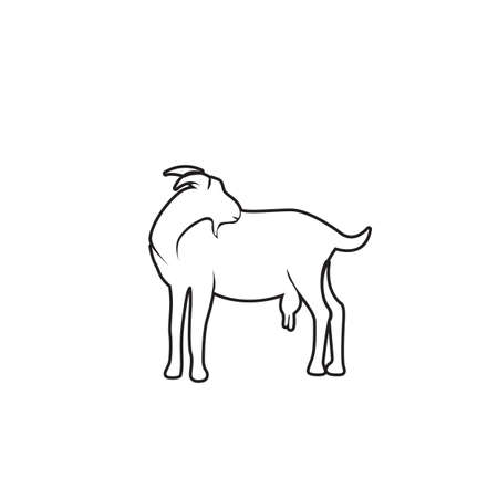 Goat Logo Template vector icon illustration design Ilustração