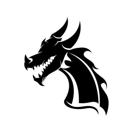 Dragon vector icon illustration design logo template