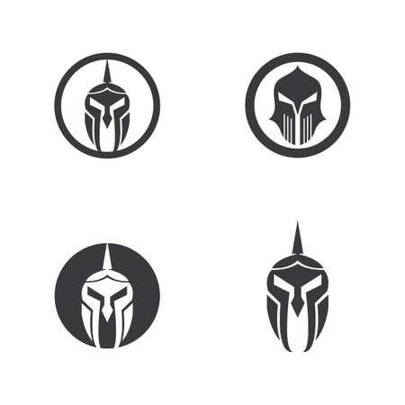 mask gladiator vector  illustration template design
