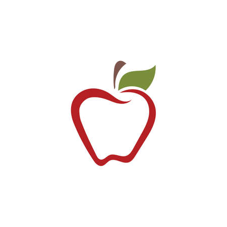Apple vector illustration design icon logo template Illusztráció