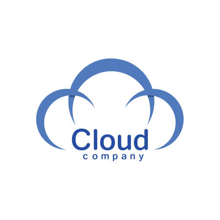Cloud logo vector icon illustration design Illusztráció