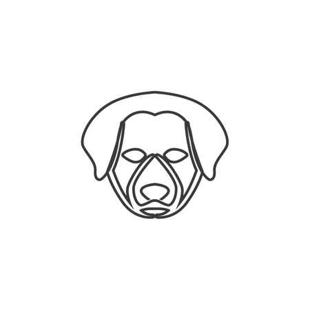 dog  head vector illustration template design Иллюстрация