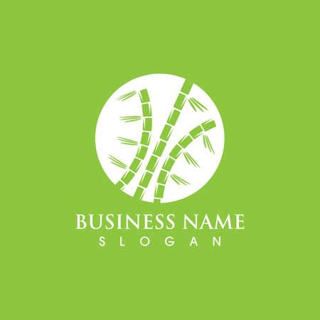 Bamboo  Template icon illustration design