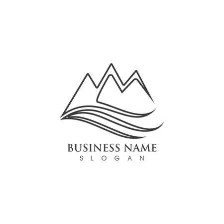 Mountain icon  Template illustration design Vettoriali