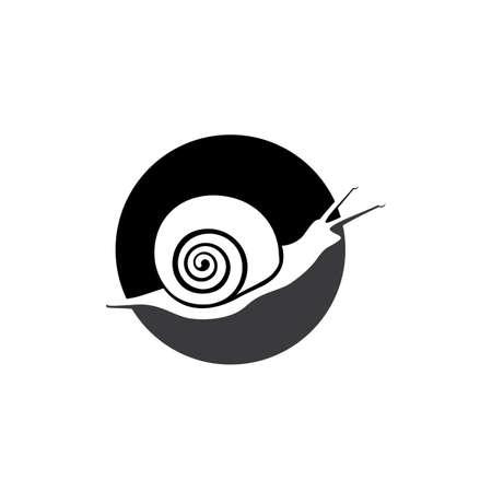 snail animal logo and symbol template