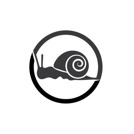 snail animal logo and symbol template Vettoriali