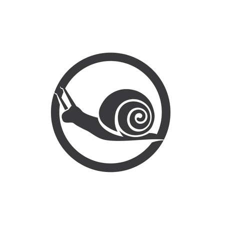 snail animal logo and symbol template Logó