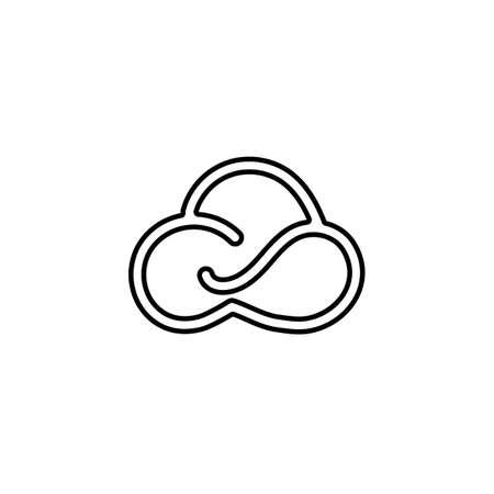 Cloud Line logo vector icon