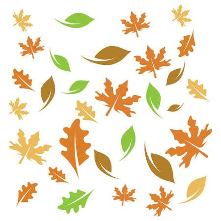Autumn seamless background wallpeper vector illustration Ilustrace