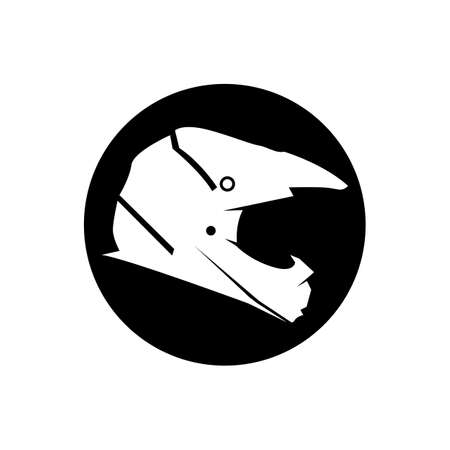 Helmet cross icon vector illustration template design