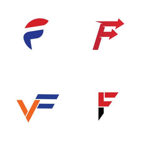 F  and symbol vector icon