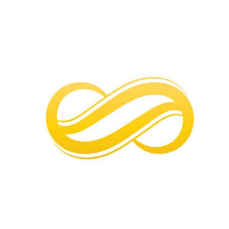 Infinity rainbow Vector icon illustration Logo template design