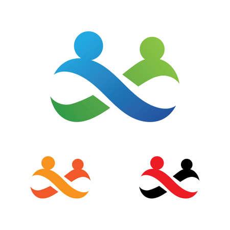 Family care infinity logo vector illustration Logos