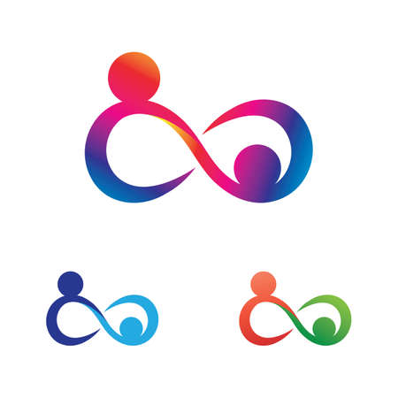 Family care infinity logo vector illustration