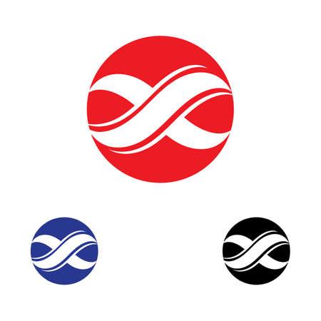 X infinity Logo Template vector icon design