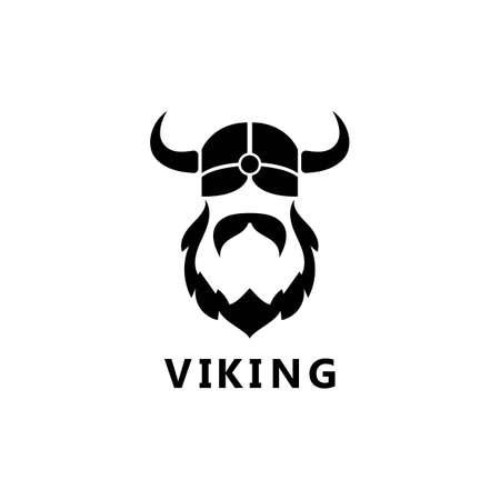 viking head logo and symbol vector