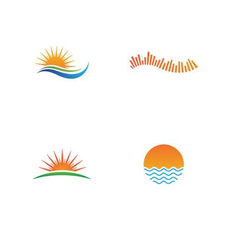 Sun Logo and icon Template design