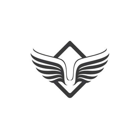 Wing illustration logo and symbol vector design