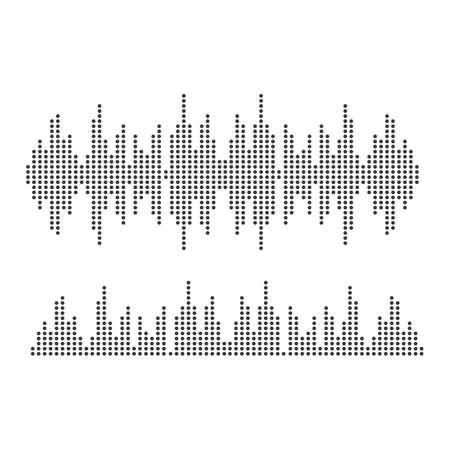 Sound waves vector illustration design template Vector Illustration