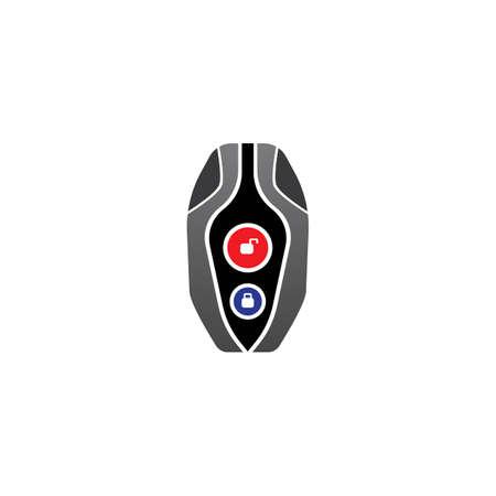 Smart key system vector illustration template design