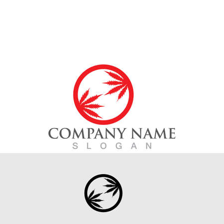 leaf cannabis logo and symbol Logo