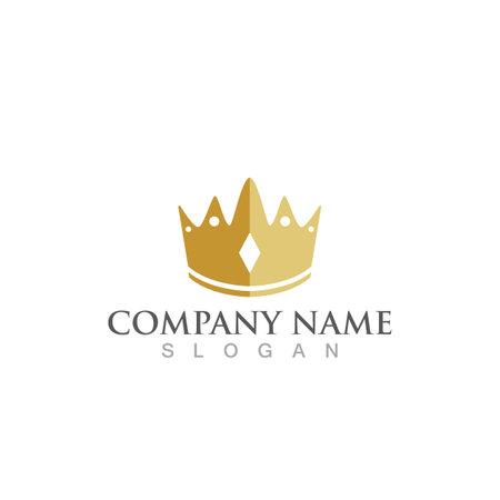 Crown logo and symbol vector Çizim