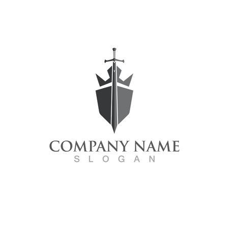 shield logo and symbol vector image