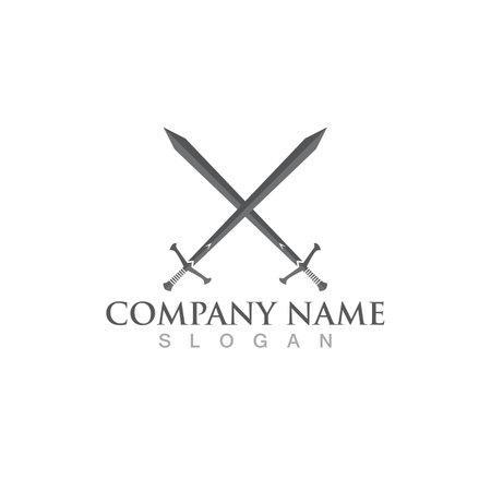 sword logo and symbol vector image Vettoriali