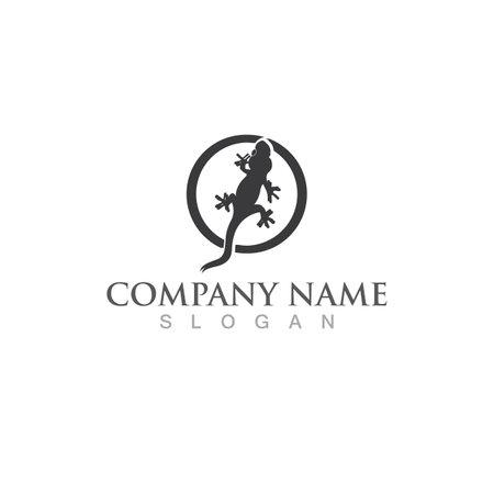 Lizard genko  logo vector Çizim
