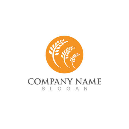 wheat logo vector icon design Çizim