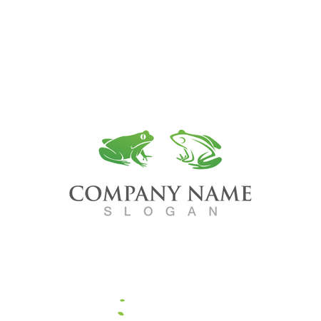 Frog  logo and symbol vector image