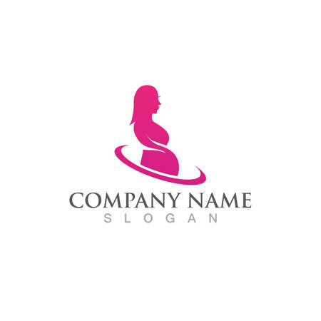 Pregnant logo template vector icon illustration design