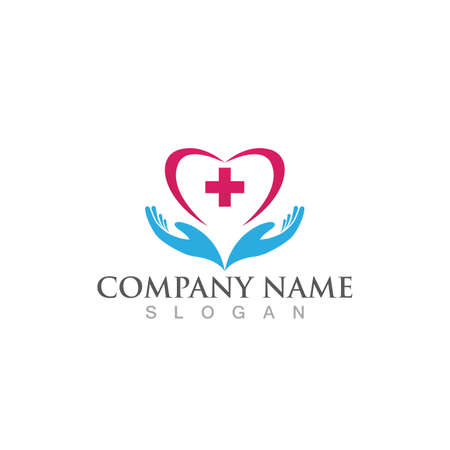 Hand care logo and symbol vector image 일러스트