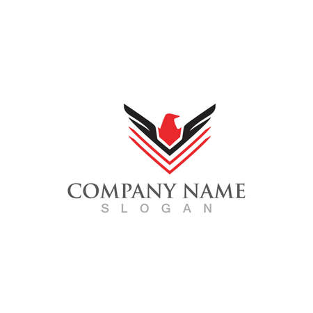 Bird wing Dove Logo Template vector illustration 일러스트