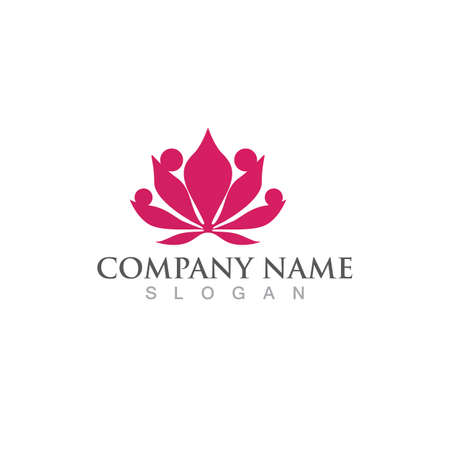 Beauty Vector lotus flowers design logo Template icon 일러스트
