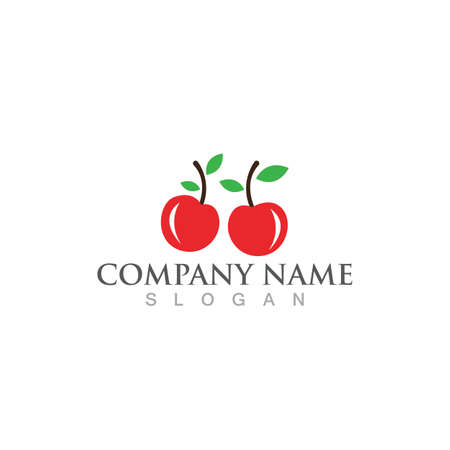cherry logo and symbol vector