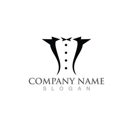 suit logo and symbol vector image