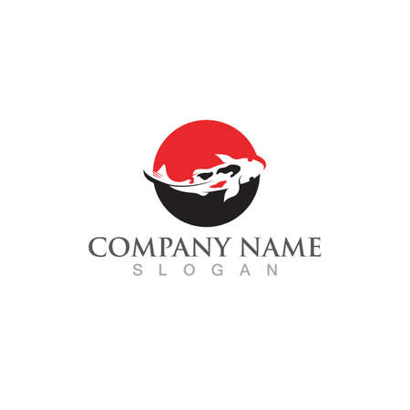 Fish logo template. Creative vector symbol