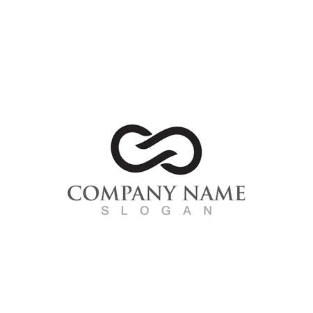 Infinity Design Vector icon illustration Logo template design Çizim