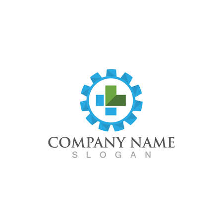 Hospital logo and symbol vector