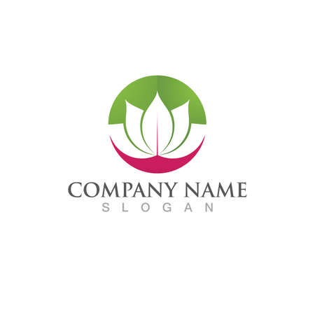Beauty Vector lotus flowers design logo Template icon Çizim