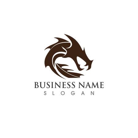 Dragon logo vector image Ilustracja