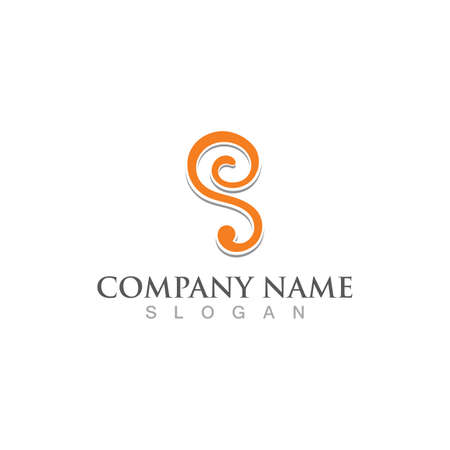 Business corporate S letter logo design vector