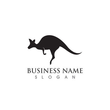 kangaroo logo and symbol vector
