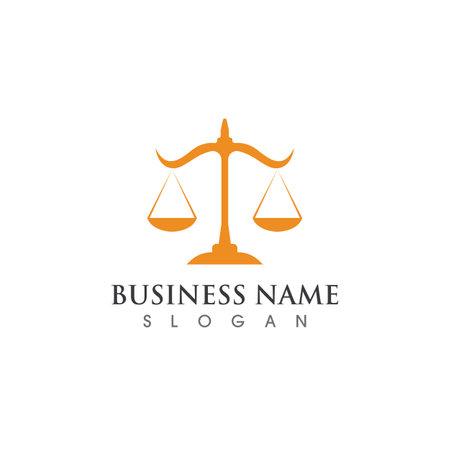 justice logo and symbol vector template design Logo