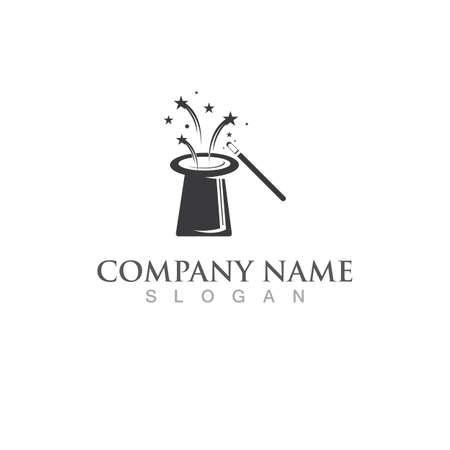 Magician hat logo and symbol icon vector Ilustração
